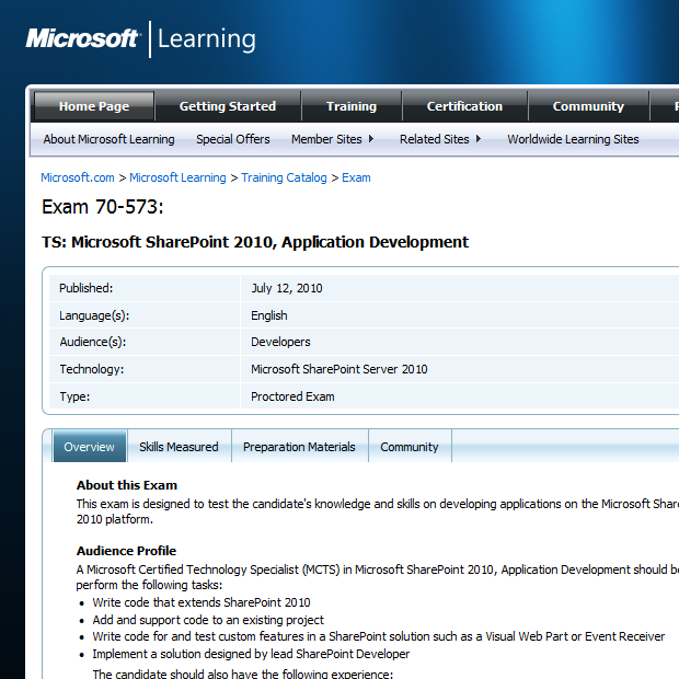 Mcts Sharepoint 2010 Application Development 70 573 Study Guide