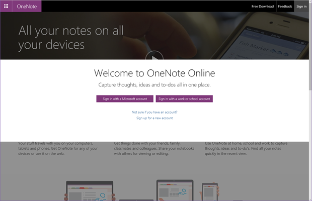 Working with all your OneNote notebooks in Office 365