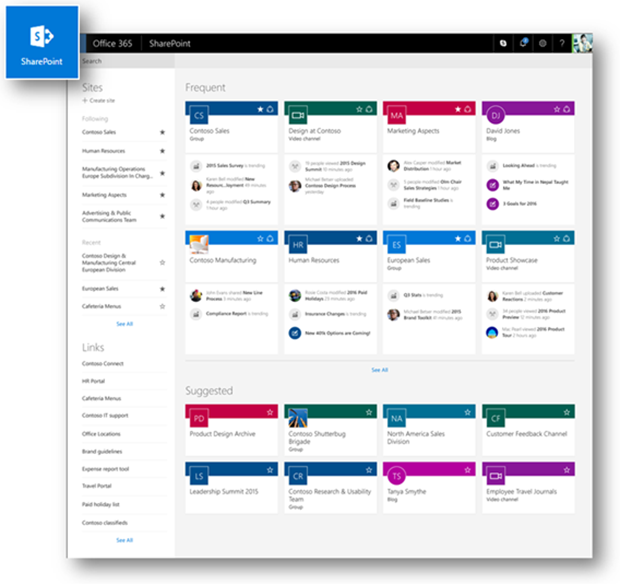 sharepoint announcement tiles tile design ideas - Sharepoint Design Ideas